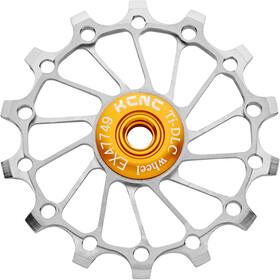 KCNC Jockey Wheel Titan 14 Teeth Narrow Wide Full Ceramic Bearing, silver